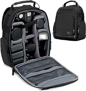 USA Gear Camera Backpack  Digital Camera Neoprene Carrying Bag with Cu...