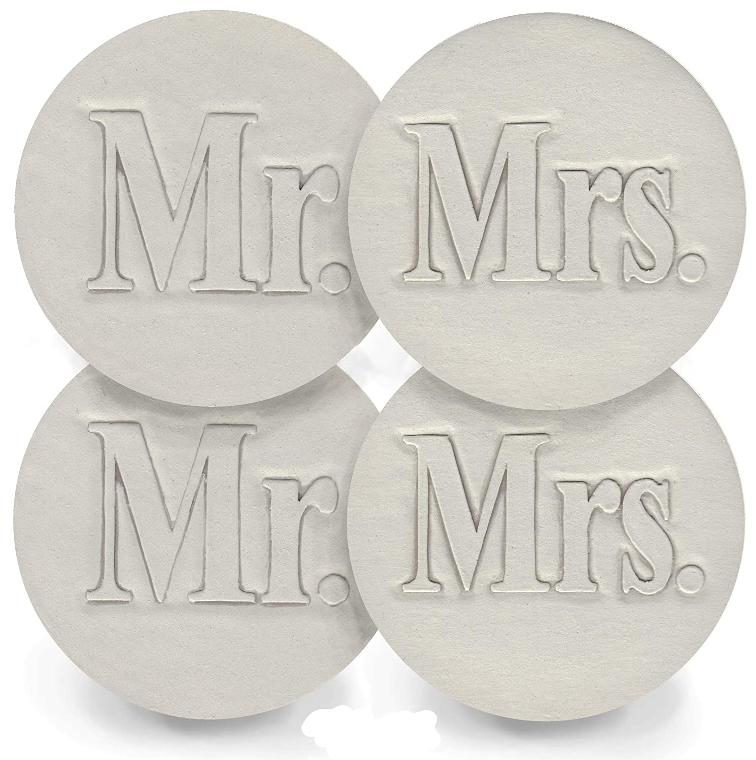 Drink Coasters Reservation - Mr. and Mrs. McCa set by Selling and selling Handmade Absorbent