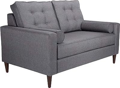 Amazon.com: 3-Seater Sofa Fabric Light Gray Comfortable ...