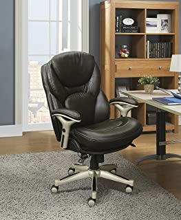 Serta Works Executive Office Chair with Back in Motion Technology, Old Chestnut Bonded Leather