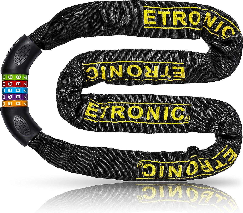 Etronic Bike Lock Louisville-Jefferson County Mall M10 Chain Cable 4 Long Links 40% OFF Cheap Sale S Feet Tuff
