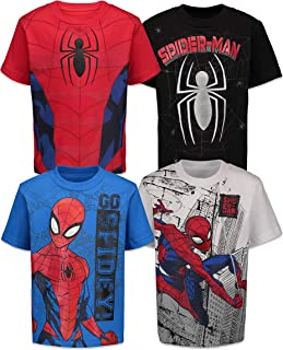 Marvel Spiderman Boys 4 Pack T-Shirts