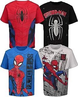 Marvel Spiderman Boys 4 Pack T-Shirts