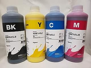 Inktec 1LITER Printer Ink Cartridge Refill kit Ink CISS Refill for HP 970 972 980 981 PAGEWIDE pro x476 x576 x477 x577 x585 Bulk Pigment Ink (Black)