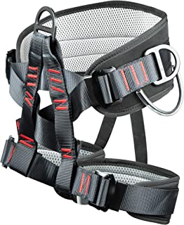Sushiyi Adjustable Thickness Climbing Harness Half Body Harnesses for Fire Rescuing Caving Rock Climbing Rappelling Tree Protect Waist Safety Belts