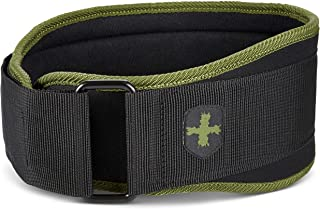 Harbinger 16225 5-Inch Weightlifting Belt with Flexible Ultra-light Foam Core, Green, Small (24-29 Inches)
