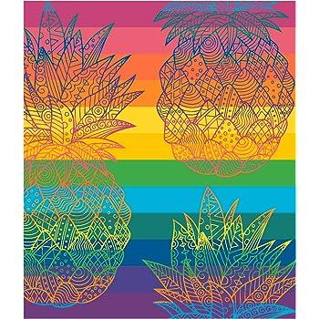 Secaneta - Toalla de Playa Doble de 175x150 cm Algodón Egipcio 100%. Piña Coorum: Amazon.es: Ropa y accesorios