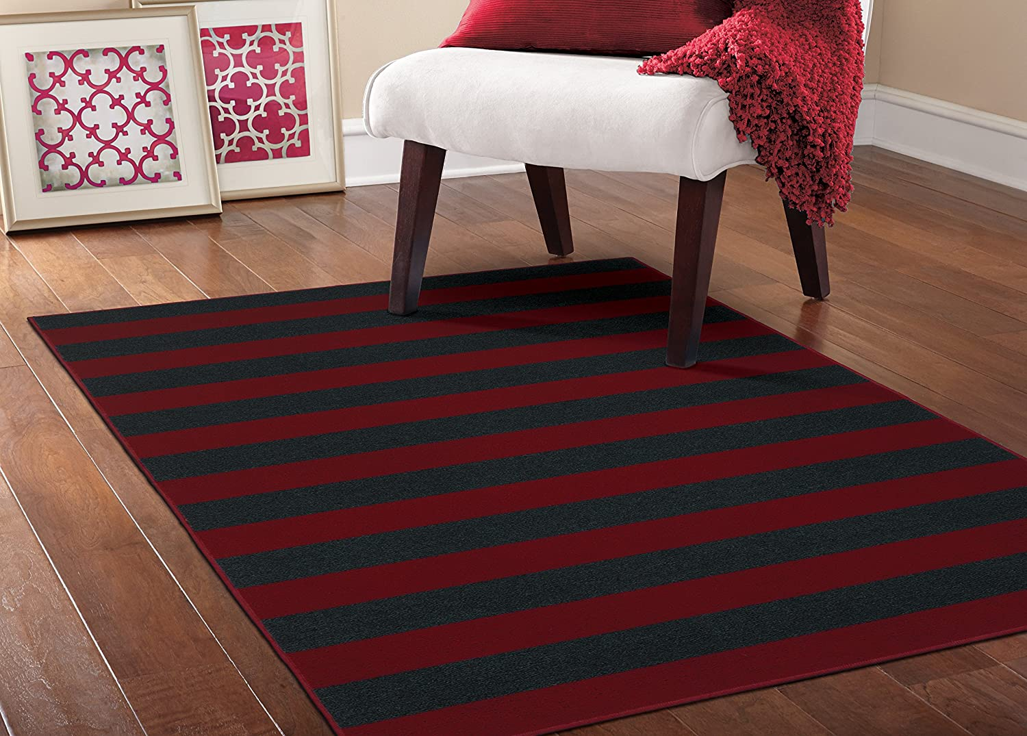 Garland Rug Rugby Area High quality new 5 Navy Red 7.5 x Max 43% OFF Burgundy