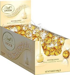 Lindt LINDOR White Chocolate Truffles, Kosher, 120 Count