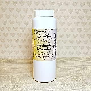 Natural Patchouli Lavender Body Powder 8 oz Amaranth & Rue