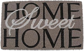 """DII Natural Coir Doormat, Home Sweet Home Mat, Home Sweet Home, Gray, 18x30"""""""