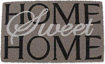 J & M Home Fashions Home Sweet Home Vinyl Back Coco Doormat, 24-Inch by 36-Inch