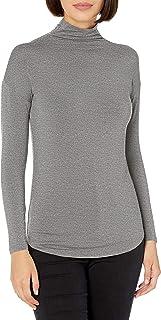 Amazon Brand - Daily Ritual Women's Jersey Long-Sleeve Funnel-Neck Shirt