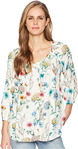 Raglan Sleeve Button Up Top