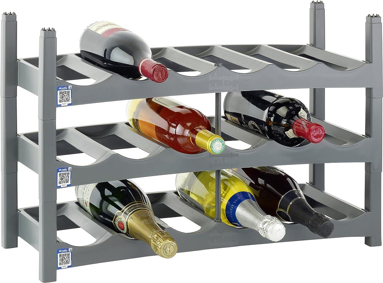 oferta de tienda rojoho Polipropileno botellero (9 Unidades, Unidades, Unidades, gris)  descuento de ventas en línea