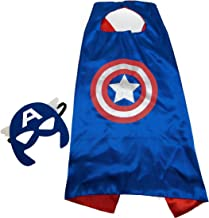 JDProvisions Superhero Kids Cape and Mask Set (Blue)