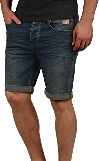 Blend Martels Herren Jeans Shorts Kurze Denim Hose Mit Destroyed-Optik Aus Stretch-Material Slim Fit