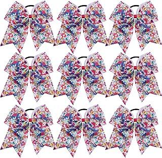 8?インチ ジャンボ チアリーダー リボン ポニーテールホルダー チアリーディングリボン ヘアネクタイ 複数の色