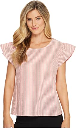 B Collection by Bobeau - Rae Ruffle Sleeve Top
