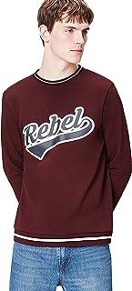 Amazon Brand - find. Men's Rebel Print Crew Neck Sweatshirt