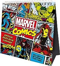 Marvel Comics Desk Easel Official 2020 Calendar Month to View Desk Calendar with removable Postcards