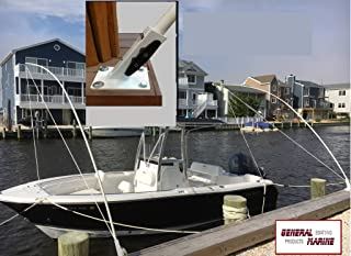 Mooring Whips deck mounted for boats from 15' to 40' solid 1