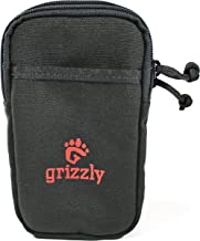 Grizzly Huron- Cell Phone CASE Two Zippered Pockets Well Padded, Tough, Sturdy, Heavy Duty Stitching Holds iPhone Samsung, Sony, BlackBerry, Nokia. Strong Back Straps for Waist Belt Backpack Gear Bag