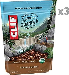 Clif Energy Granola - Organic Nutrition - Cocoa Almond - (10 Ounce Bag, 3 Count)