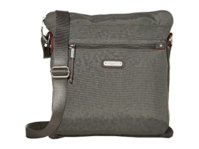 Baggallini New Classic Go Bagg with RFID Phone Wristlet (Pewter/Cheetah Emboss) Bags