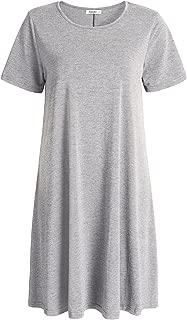 Esenchel Women's Swing T-Shirt Dress Short Sleeves Casual Dress