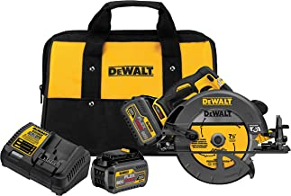 DEWALT DCS575T2 FLEXVOLT 60V MAX Brushless Circular Saw with Brake and 2 Battery Kit, 7-1/4