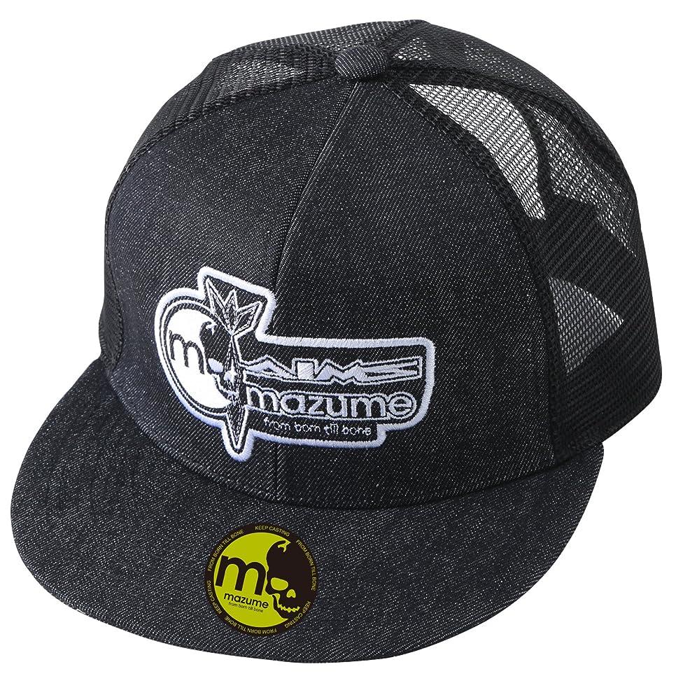 ファイバ気がついての慈悲でMAZUME(マズメ) mazume×AIMS FLAT CAP MZCP-373-01 ブラック F