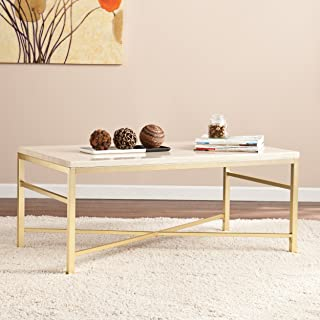travertine nesting coffee table