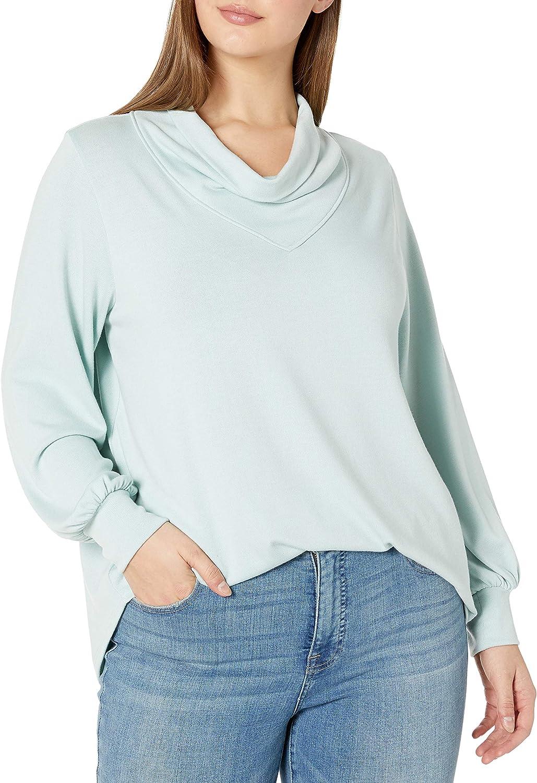 Skinnygirl Womens Bella Cowl Neck Light Weight Top