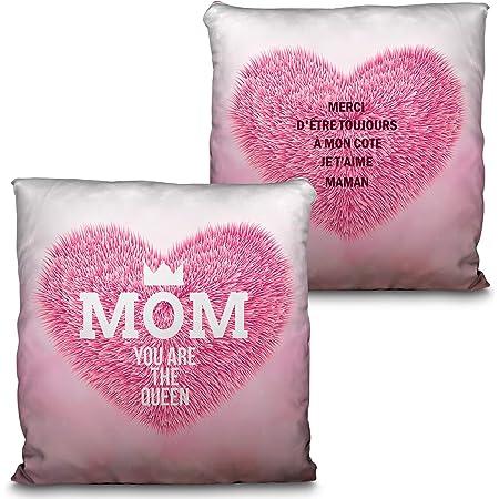 Personnalisé Coussin Happy Mothers Day-Cadeau Personnalisé Oreiller Cadeau pour Maman Mummy