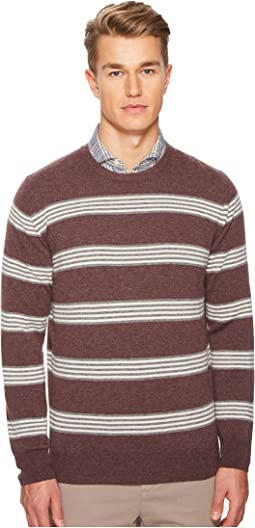 Striped Cashmere Crew Neck Sweater