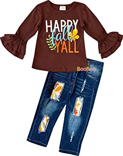 Boutique Clothing Girls Fall Winter Outfit Sets Long-Sleeves Top Bottoms Or Dresses