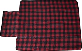 Hammer + Axe Travel Blanket, Water Resistant and Sand Free Padded Mat, 4.5 x 5.5 ft, Easy Pack Blankets with Zipper, Perfect Outdoor Seating for Picnics, Beach, Park, Camping and Backyard (Plaid)