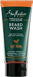 Shea Moisture Mens Beard Wash, Premium All Natural ingredients, Maracuja Oil & Shea Butter Deep Clean & Refresh Cleanser, 6 Ounce