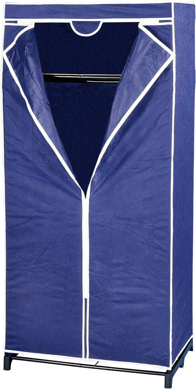 Wenko 4381640100 Air Breathable Fleece Wardrobe, 75 x 160 x 50 cm, Dark bluee