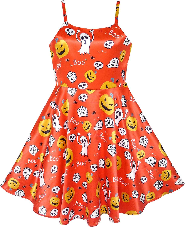 Sunny Fashion Girls Dress Red Tartan Checks Plaid Sundress