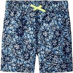 Blue Tropical Print