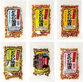 水戸 名産 どらい納豆 味くらべ ( しょうゆ うす塩 ピリ辛 梅 わさび 黒糖 ) 6種ミックスセット 計460g 国産大豆 沖縄黒糖 スナック