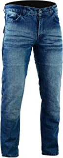 Men's Motorcycle Protective Kevlar Jeans Stone Wash Blue
