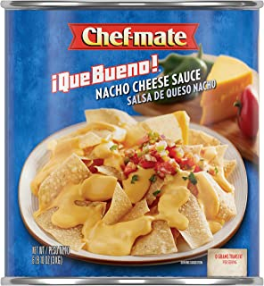 Chef-mate Que Bueno Nacho Cheese Sauce and Queso, Canned Food, 6 lb 10 oz (#10 Can Bulk)