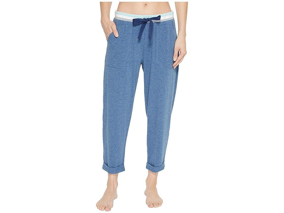 Splendid Cropped Lounge Pants (Ocean Blue Heather) Women