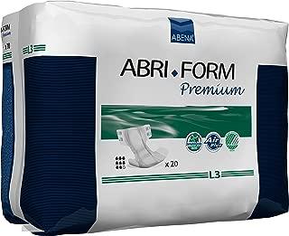 Abena Abri-Form Premium Incontinence Briefs, Large, L3, 80 Count (4 Packs of 20)