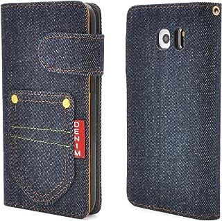 PLATA Galaxy S6 SC-05G ケース 手帳型 ギャラクシー S6 デニム デザイン スタンド ケース ポーチ 手帳 カバー ジーンズ DSC05G-63A-A
