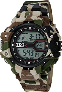 TKO ORLOGI Men's 'Durable Camouflage Sports Digital' Quartz Multi Color Camping Watch (Model: TK661BR)