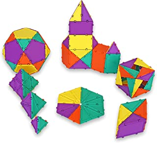 Geometiles 3D Building Set for Learning Math, Includes Many Online Activities, 96-pc, Made in USA